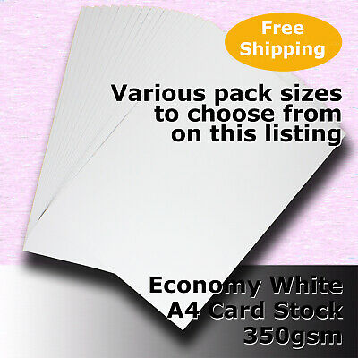 Economy Card Stock WHITE A4 Size 350gsm #H5608