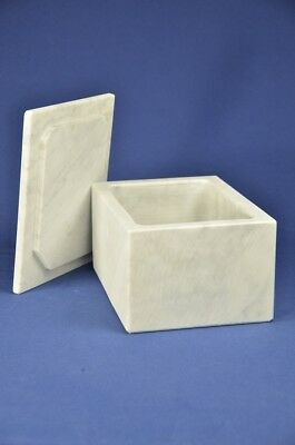 Vaschetta lardo in marmo Carrara grande, Carrara marble box for lard big