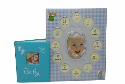 Baby Gifts Photo Album With Frame For Boys - Good For Baby Shower Gifts -... New