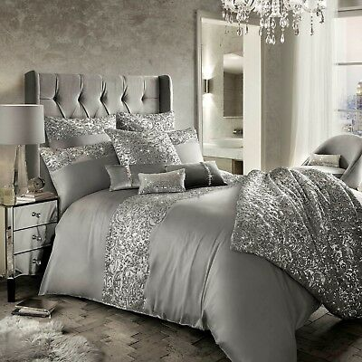Kylie Minogue Bedding CADENCE Silver / Grey Duvet / Quilt Cover,Cushion or Throw