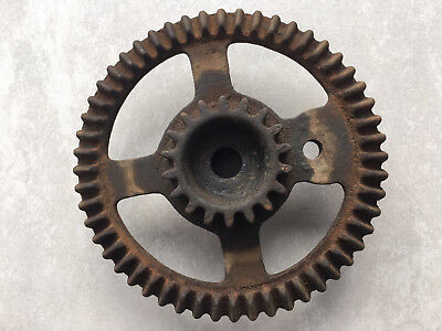 Antique Vintage Cast Iron Industrial SteamPunk Art Steel Gear 5 1/4""
