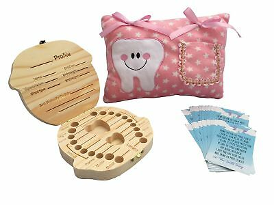 Girl Tooth Fairy Kit - Tooth Fairy Pillow Girl - Tooth Fairy Box - Tooth ... New