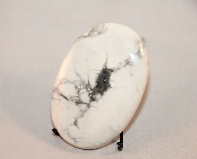 Natural Howlith, Howlite Cabochon oval, Edelsteine 44x29mm, 80ct. (2)