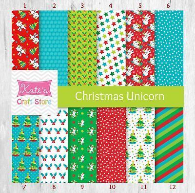 "Christmas Unicorn Summer Flamingo 12""x12"" Craft Vinyl with Permanent Adhesive"