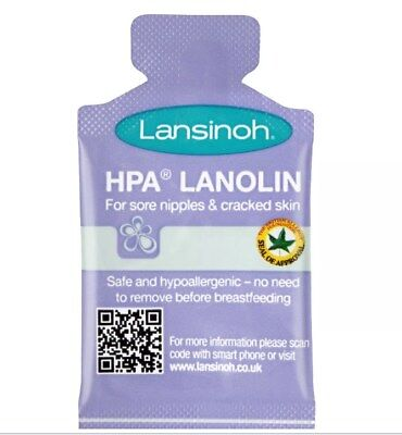 Lansinoh HPA Lanolin 10 x 1.5ml Sachets - for Sore Nipples and Cracked Skin