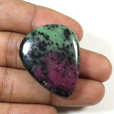 RUBY ZOISITE CABOCHON PEAR RARE~ NATURAL LOOSE GEMSTONE 51.90Cts. 33x27mm. RZ-84