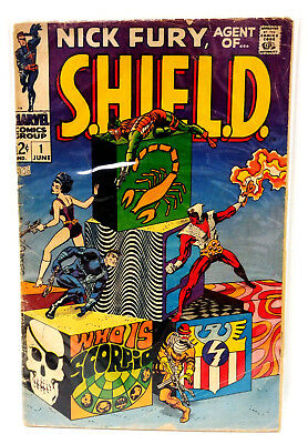 #1 NICK FURY AGENT of SHIELD 1960s Marvel Silver Age Comic Book- Good (NF-01)