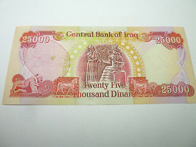 25,000 IRAQI DINAR (1ea) 25,000 Bill UnCirculated ! AUTHENTIC! IQD- Good to Go