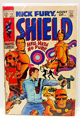 #12 NICK FURY AGENT of SHIELD 1960s Marvel Silver Age Comic Book- VG/F (NF-12)