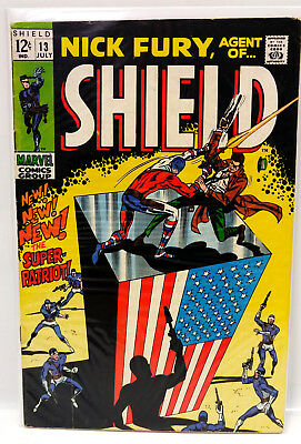 #13 NICK FURY AGENT of SHIELD 1960s Marvel Silver Age Comic Book- VG/F (NF-13)