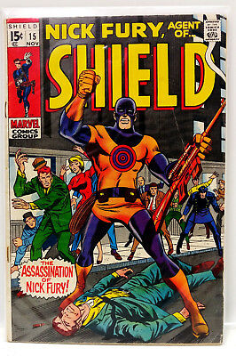 #15 NICK FURY AGENT of SHIELD 1960s Marvel Silver Age Comic Book- VG (NF-15)