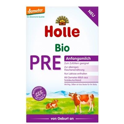 4 Holle Stage PRE Organic Infant Baby Milk Formula 0-6 months, FREE SHIPPING