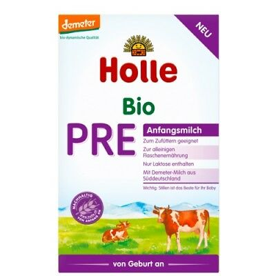 8 Boxes Holle Organic Stage Pre Infant Formula 0-6 months, 400g, FREE SHIPPING