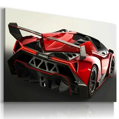 LAMBORGHINI VENENO GRAPHITE Sports Cars Wall Art Canvas Picture  AU721  MATAGA