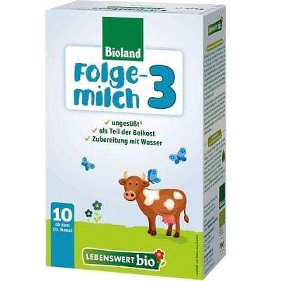 4 Boxes Holle LEBENSWERT Stage 3 Organic Milk Formula, 10 months+, FREE SHIPPING