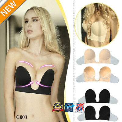 Lycra Silicone Adhesive Stick Push Up Gel Strapless Backless Invisible Bra G003