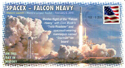 COVERSCAPE computer designed Spacex Falcon Heavy maiden launch event cover