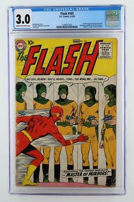 Flash #105 - CGC 3.0 GD/VG - DC 1959 - 1st App & ORIGIN of Mirror Master!!!
