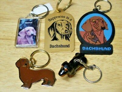 Lot Of 5 Dachshund Keychains  New With Tags And New Without Tags