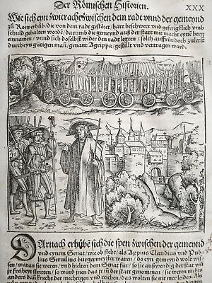 Livius History of Rome Post Incunable Woodcut Schoeffer (30) - 1530