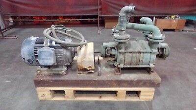 SIHI 2 Stage Liquid Ring Vacuum Pump Pkg Lot # 2