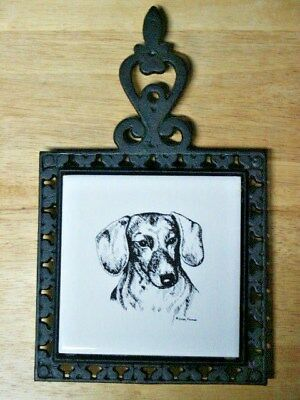 Dachshund Trivet/hot Plate With Wall Tile By Lanka Walltiles    New Without Tag