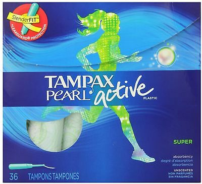Tampax Super Absorbency, Unscented Plastic Applicator Tampons 36 ea