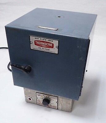THERMOLYNE OV-10600 HOT PLATE MINI OVEN w/TYPE 1900/Model HP-A1915B-13 HOT PLATE