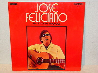 "***JOSE FELICIANO""IN LATIN MOOD""-12""Inch 1971 RCA/Camden Records UK Import LP***"