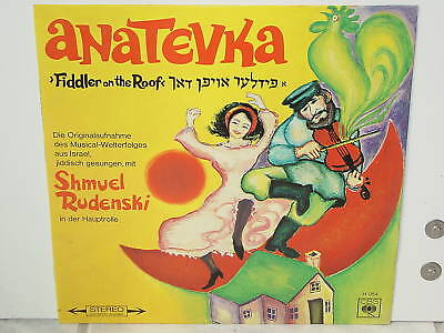 "ANATEVKA-FIDDLER ON THE ROOF mit Shmuel Rudenski-12""LP"