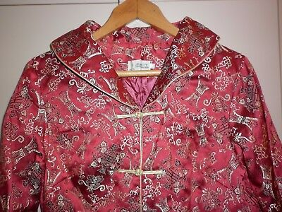 Vintage Chinese Brocade Jacket Size Xl  Excellent Condition