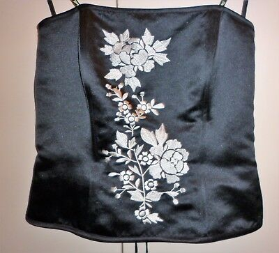 Vintage Walter K Satin And Embroidery Bustier Top Size 12  Excellent Condition