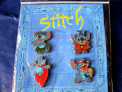 Disney * STITCH * New in Pack 4 Pin Booster Set - Superhero Hula Ice Cream Alien