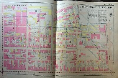 1903 York Pa Dispatch Newspaper, Hotel Penn Broad St To N. George St  Atlas Map