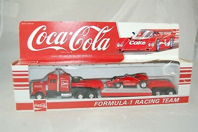 Coca Cola Coke Hartoy Formula 1 One Racing Team Tractor Trailer Truck Semi 1:64