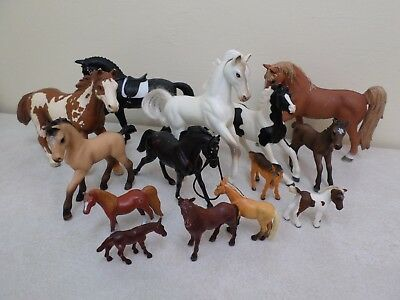 Horse Collectible Lot 14 Various Makes and Sizes Schieich Safari Breyer Reeves