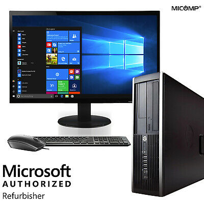 HP Desktop Computer 16GB 500GB SSD Core i5 PC 8GB 2TB HD Windows 10 Pro LCD WiFi