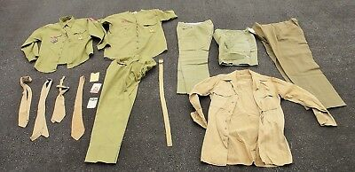 1950s LOT vintage BOY SCOUT UNIFORMS + 2 CARDS William PASHINSKI nanticoke pa
