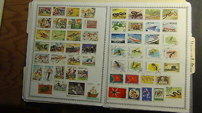 N Vietnam classics stamp collection on  homemade pages to '91 ?
