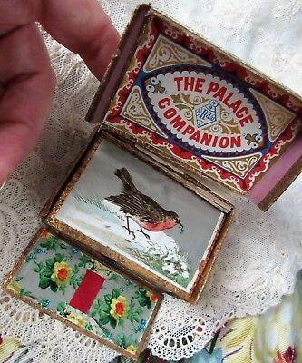 Antique THE PALACE COMPANION Mirror Needle Book *C.1800s