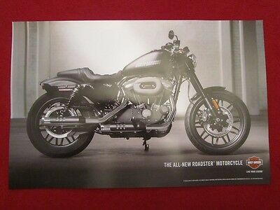 "NEW! 2016 HARLEY- DAVIDSON MOTORCYCLE, SPORTSTER, ROADSTER, POSTER MINT! 11""x17"""