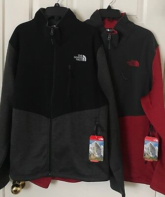 50b8bf951 $129 NWT Mens The North Face Norris Full Zip Jacket Asphalt Gray TNF Black  Red