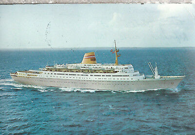 M/S Sajafjord   Norwegian American Line   Mailed from Ship 1968 Postcard 2618
