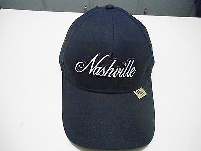 Nashville Hat Cap Quality Headwear Capsmith One Size Blue Vg+ Cond