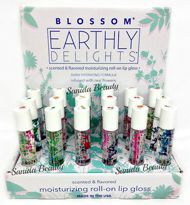 Blossom Earthly Delights Roll On Lip Gloss 0.2oz  - Choose any flavor!