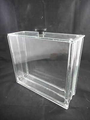 KONTES Molded Glass Rectangular TLC Developing Tank with Lid 4 x 11.75 x 10.75in