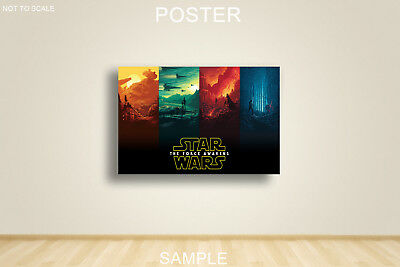 STAR WARS 4 COLORS FORCE AWAKENS MOVIE POSTER A2,A1,61x91cm(24x36inch)