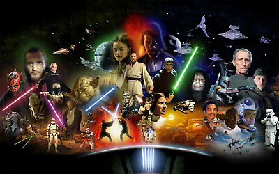 Star wars All episods Poster MOVIE POSTER A2,A1,61x91cm(24x36inch)
