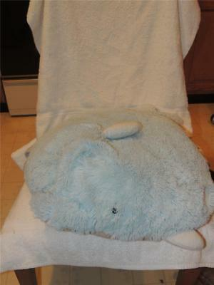 """2010 Squeaky the Blue Dolphin Authentic Pillow Pet Large Sized 22"""" Long Porpoise"""