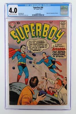 Superboy #68 - CGC 4.0 VG - DC 1958 -Superman- 1st App & ORIGIN of Bizarro!!!